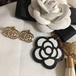 Gold Beautiful Pearls Stud Earrings